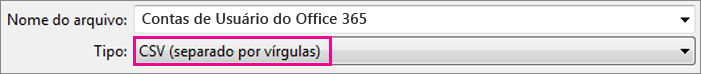 Uma imagem de como salvar um arquivo em Excel no formato CSV