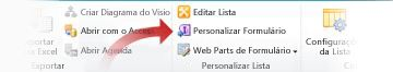 Personalizar formulários usando o Infopath