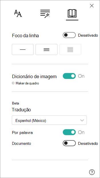 As opções de tradução estão disponíveis na seção dicionário da imagem.