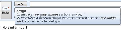 Dica de tela de tradução