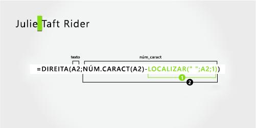 Fórmula para separar um nome e um sobrenome com hífen
