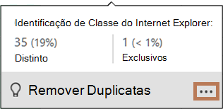 Pop-up do gráfico de distribuição