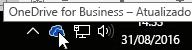 Ícone da barra de tarefas do OneDrive for Business