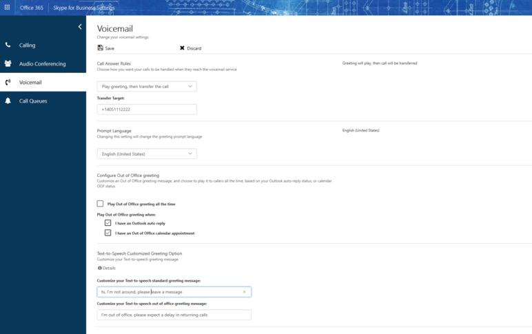 Portal de configuração do usuário