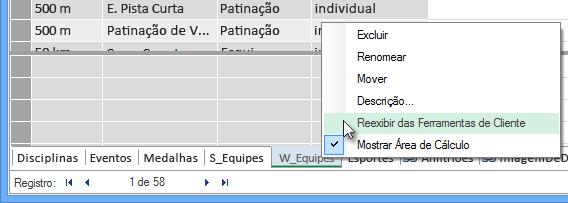 como ocultar tabelas das Ferramentas de Cliente do Excel