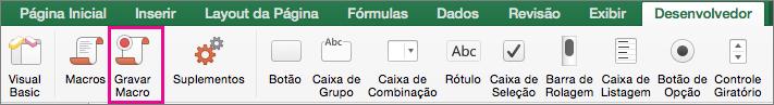 Gravar Macro do Excel para Mac