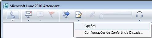 Ícone Opções do Lync Attendant