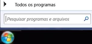 Captura de tela da pesquisa de programas