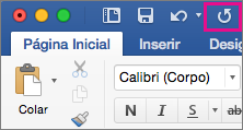 O ícone Repetir está realçado na faixa de opções.