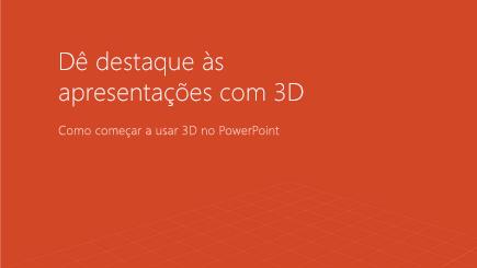 Captura de tela da capa de um modelo do PowerPoint 3D