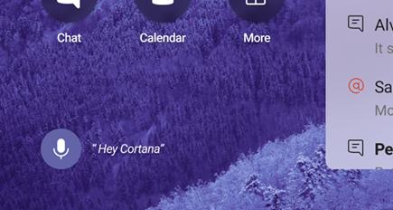 """Microfone e """"Ei Cortana"""""""