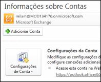 Adicionar uma nova conta de email no Outlook 2010
