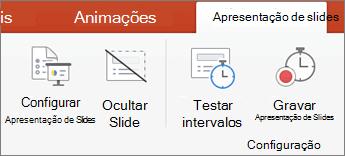 Clique na guia apresentação de slides