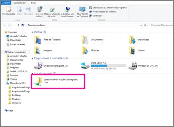 No Internet Explorer, encontre o local da sua Rede
