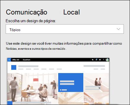 Aplicar um design a um site do SharePoint