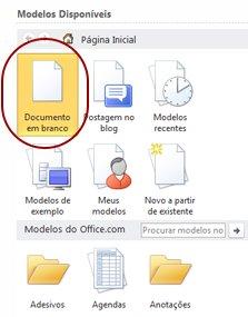 documento em branco