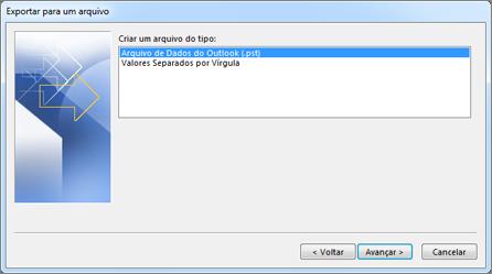exportar para arquivo de dados