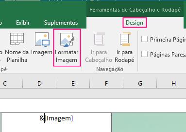 Formatar tela de fundo no Excel