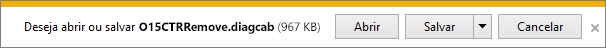 Selecione Abrir para abrir a ferramenta de correção fácil O15CTRRemove.diagcab.
