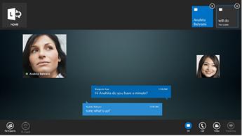Captura de uma tela de mensagem instantânea