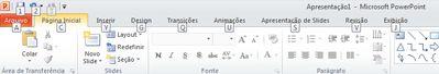 As teclas de atalho do teclado na guia Arquivo