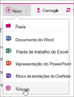 Adicionar novo menu com o Link realçado
