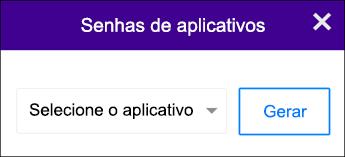 Escolher seu aplicativo