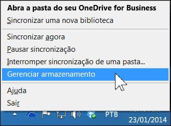 Gerenciar o armazenamento de seu OneDrive for Business