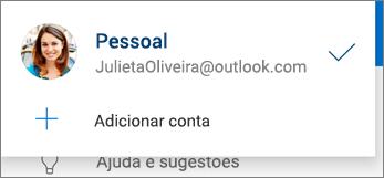 Adicionar conta no aplicativo OneDrive para Android