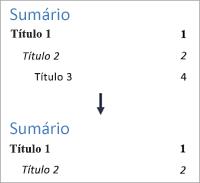 Mostra alterando o número de níveis de modo que não é mais exibido nível 3