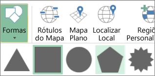 Opção Formas de Mapas 3D