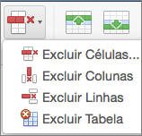 Excluir Tabela do Office para Mac