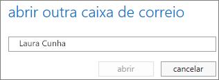 Caixa de diálogo Abrir outra caixa de correio do Outlook Web App