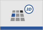 a 3D grid shape