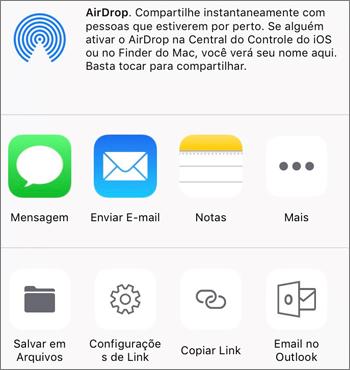 Captura de tela do botão Salvar Foto no aplicativo do OneDrive no iOS