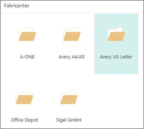 Modelos de cartão-postal de fabricantes específicos, como a Avery.