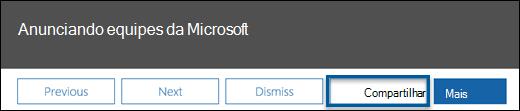 Uma captura de tela da Central de mensagem postar barra de ações