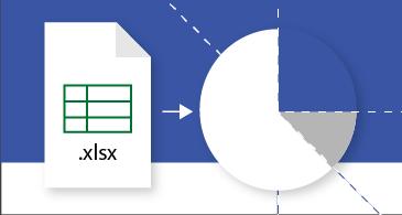 Planilha do Excel sendo transformada em um diagrama do Visio