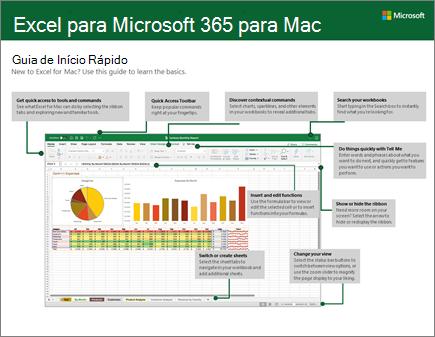 Guia de Início Rápido do Excel 2016 para Mac