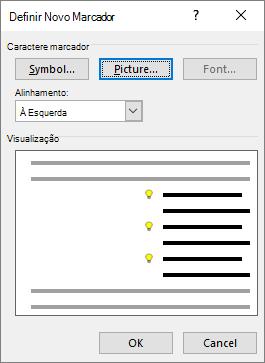 Nova tela de marcador com imagem selecionada