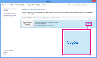 Adicionando método de entrada no Painel de Controle no Windows 8