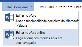 Editar no Word Online