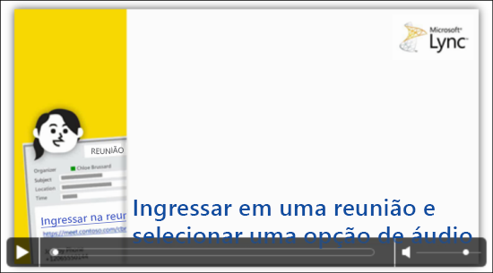 Captura de tela do slide do PowerPoint com controles de vídeo