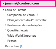 Conta do Outlook