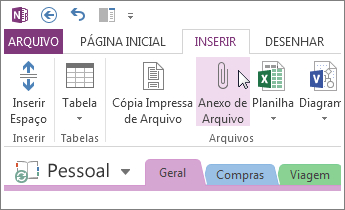 Lista de documentos em aplicativo do Office