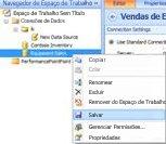 Opção Salvar Fonte de Dados no Navegador de Espaço de Trabalho da interface do usuário do Dashboard Designer