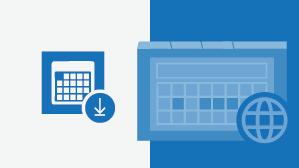 Folha de referências do Calendário do Outlook Online