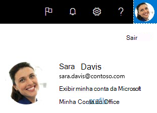 Meu perfil do Office no Delve