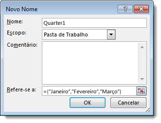 Caixa de diálogo Novo Nome