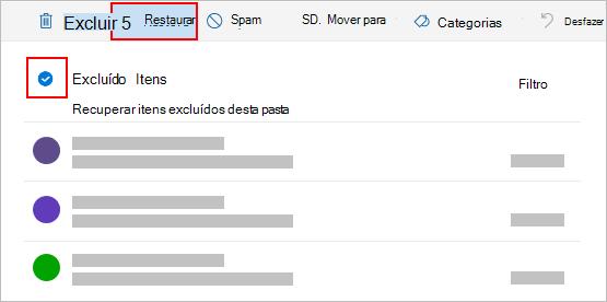 Caixa de diálogo Excluir Outlook.com